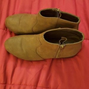 Celebrity New York Brown Leather Booties 9